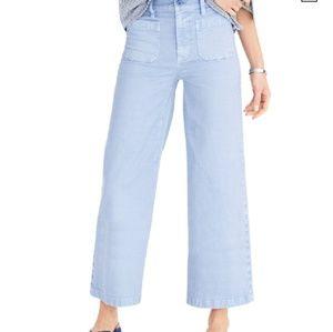 J.Crew Point Sur blue Wide Leg Crop Pants sz. 30